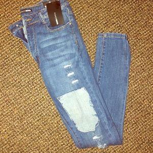 Fashion nova distress jeans